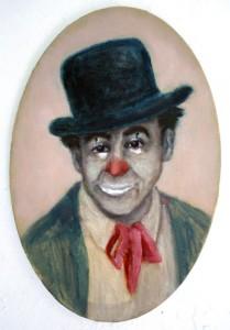 """Clown"", 30 x 20 cm, Öl auf Leinwand, 2018"