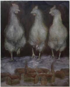 """o.T."", 100 x 80 cm, Öl auf Leinwand, 2018"