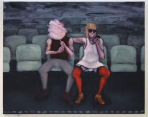 """""""Unterhaltung"""", 80 x 100 cm, Öl auf Leinwand, 2015"""